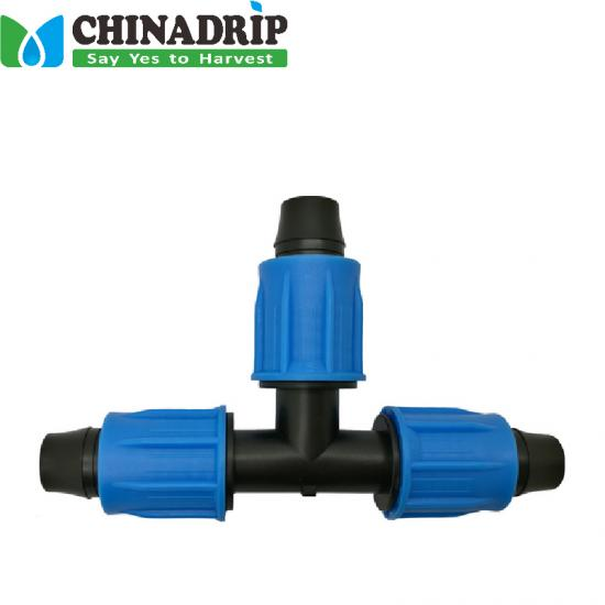 Lock Tee for pipe irrigation